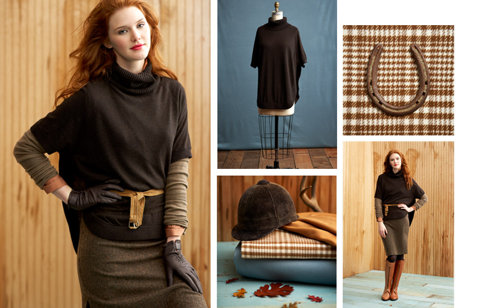 Studio Cape from Laurie b. knitwear Fall 11 line.