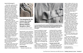 San Francisco Chronicle – Jan 11 from Laurie b. knitwear Press