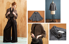 Carriage Cape [LB83762] from Laurie b. knitwear Fall 11